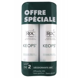 Roc keops spray déodorant sec lot de 2 x 150 ml
