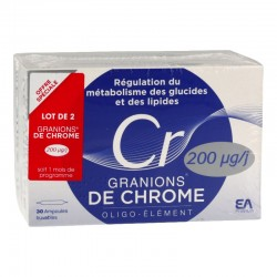 Granions de chrome Lot de 2 x 30 ampoules