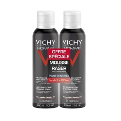 Vichy homme gel de rasage anti-irritations 200ml x2